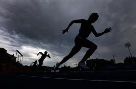 canadian track and field silhouette