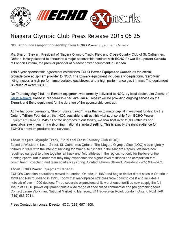 NiagaraOlympicClubPressRelease201505250001
