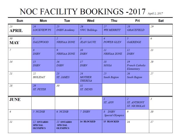 2017 booking final